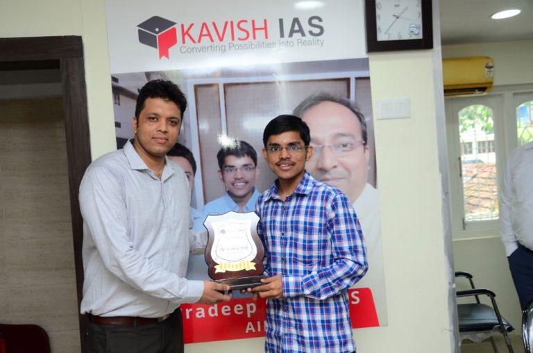 Pradeep Singh with Director of KavishIAS